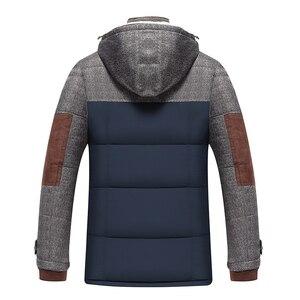 Image 3 - ブランド冬のジャケットの男性ファッションM 5XL新到着カジュアルスリム綿厚いメンズコートパーカーフード付き暖かいcasaco masculino