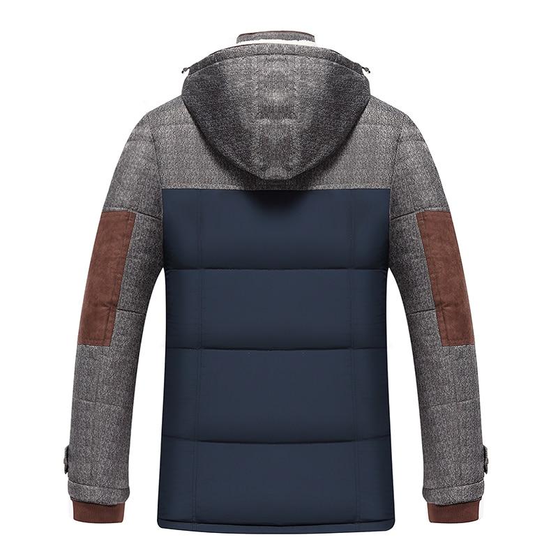 Marque Hiver Veste Hommes Mode M-5XL Nouvelle Arrivée Occasionnel Mince Coton Épais Mens Manteau Parkas Avec À Capuche Chaud Casaco Masculino - 3