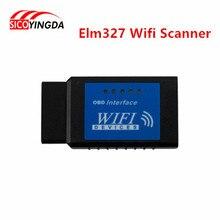 Hot sell elm327 Wifi Scanner Diagnostic Tool elm 327 wifi obd2 scanner V 2.1 Wireless Works on elm327 Torque