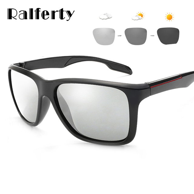 16da762267 Ralferty 2018 Photochromic Polarized Sunglasses Men Car Driving Goggles  Chameleon Sunglass Male HD Discoloration Glasses K1037