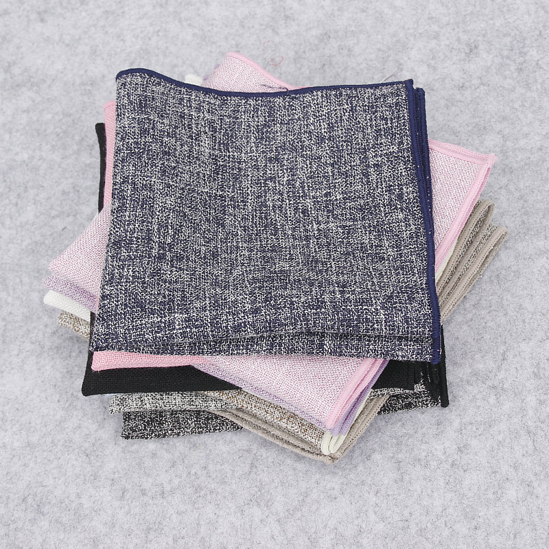 2018 High Quality Men's Fashion Solid Pocket Squares For Men Handkerchief Wedding Vintage Hanky Suits Pocket Hankies Towels