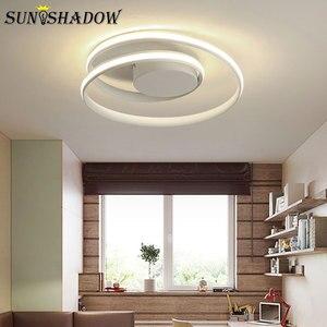 Image 4 - Black & White โมเดิร์นโคมไฟระย้า LED ติดตั้งภายในบ้านโคมไฟเพดาน LED โคมไฟระย้าสำหรับห้องนั่งเล่นห้องนอนห้องครัวห้องนั่งเล่น