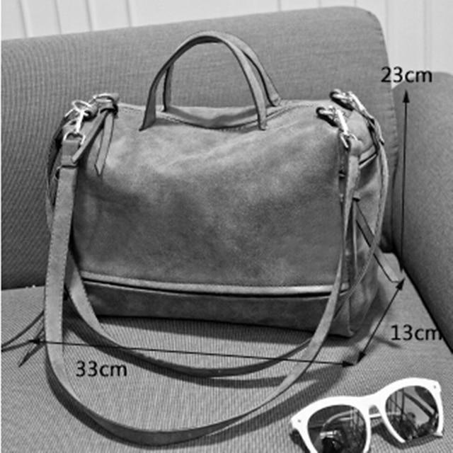 Bolish Brand Fashion Female Shoulder Bag Nubuck Leather women handbag Vintage Messenger Bag Motorcycle Crossbody Bags Women Bag 5