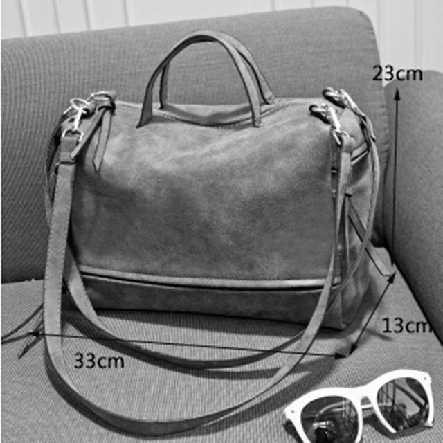 Nubuck Leather Women Tassel Bag