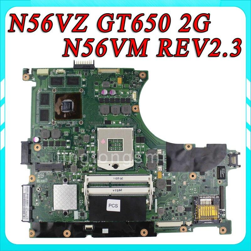 For ASUS N56VZ S4016V font b laptop b font Motherboard N56VM REV2 3 mainboard GT650 2G