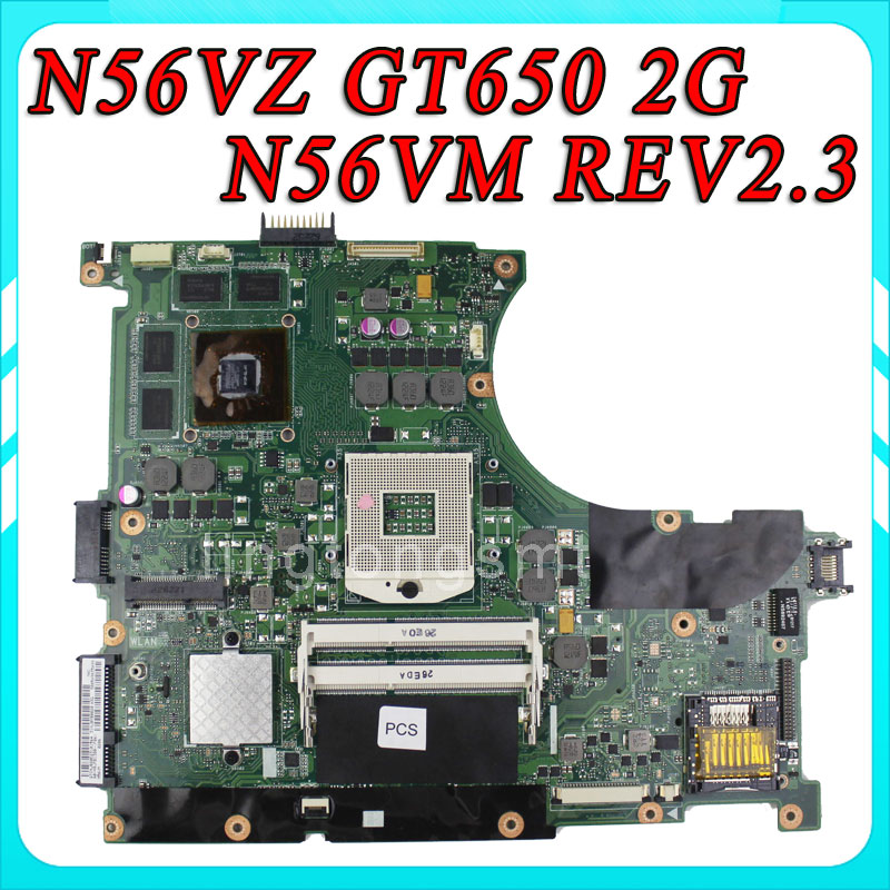 все цены на For ASUS N56VZ-S4016V laptop Motherboard N56VM REV2.3 mainboard GT650 2G DDR3 PGA 989 100% Tested онлайн