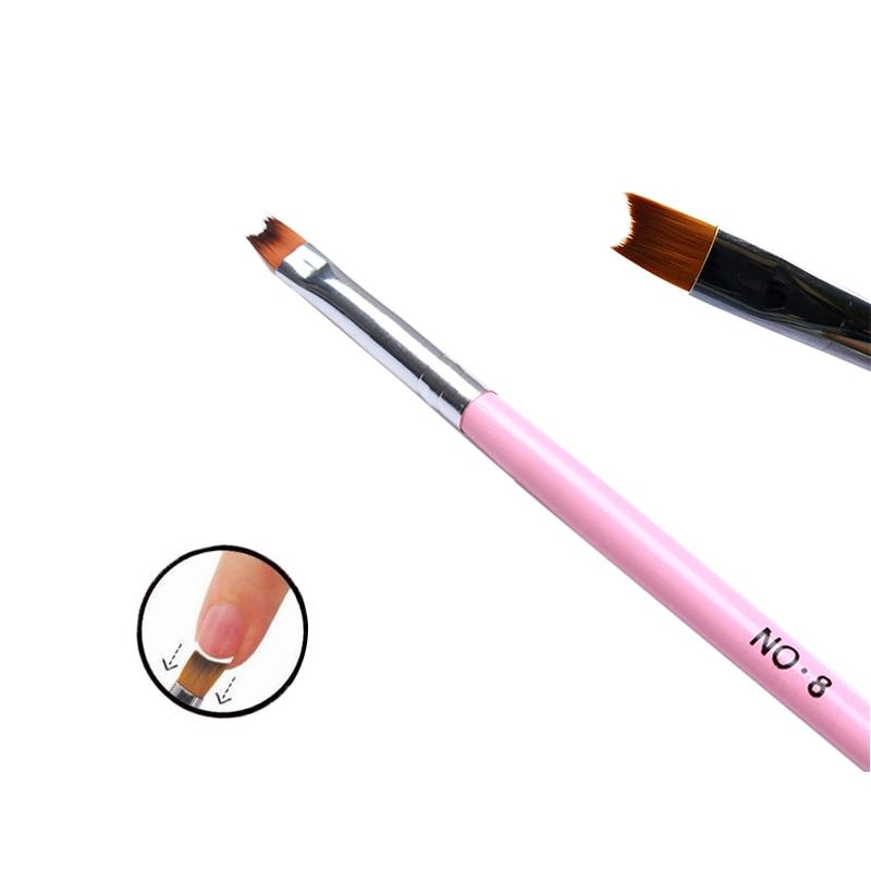 MAKARTT 10Pcs Nail Brush Pen 8# Acrylic UV Gel Nails Art Painting ...