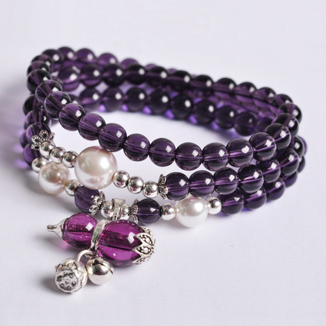 Multi-layers Bracelet Buddhism Beads Tibetan Jingle Bell Crystal Bracelet Charm Bracelet Free Shipping Numerous In Variety