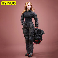 1/6 Scale FT007 Fighting Women Hero Girl Sexy Battle Suit Female Military Uniform Clothes Clothing Set For 12 Action FigureBody