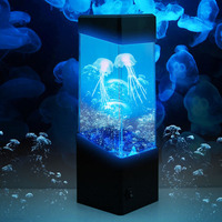 Jellyfish lamp Night Lamp Jellyfish Water Ball Tropical Fish Aquarium Tank LED Lights Relaxing Mood Light