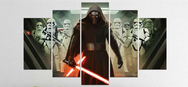 Star Wars Kylo Ren A First Order Stormtrooper Movie Poster