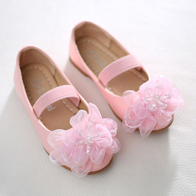2017 Fashion Children Girls Flower Party Ballet Shoes Elastic Band Girls Princess Shoes Child Girl Wedding Shoes Kinderschoenen