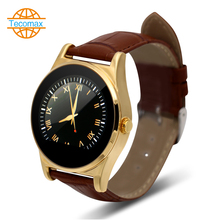 Bluetooth rundsieb Smart Watch ips ogs hd-bildschirm SmartWatch Pulsuhr armbanduhr lederarmband uhr