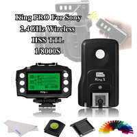 PIXEL King Pro For Sony 2.4G Wireless TTL HSS Transceiver Receiver Kit Flash Trigger For Sony A7 A7S A7R A7RII A7M3 A9 A77II