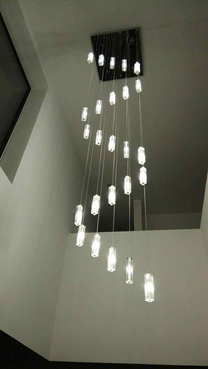Spiral Chandelier Staircase Lighting Spiral Crystal Chandelier for Stairwell Church Long Chandelier Modern Staircase Chandelier