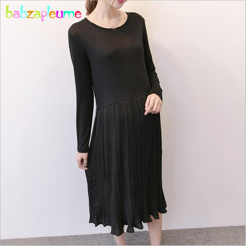 Spring Autumn Pregnancy Clothing For Maternity Wear Long Sleeve Dress Cotton Fashion Korean Clothes Size Pregnant Dresses BC1644