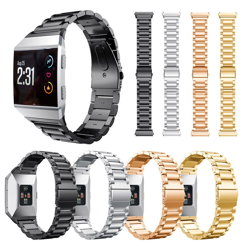 все цены на Stainless Steel Smart Watch Band For Fitbit Ionic Bracelet Genuine Solid Metal Stylish Replacement Wrist Strap Bangle Luxury