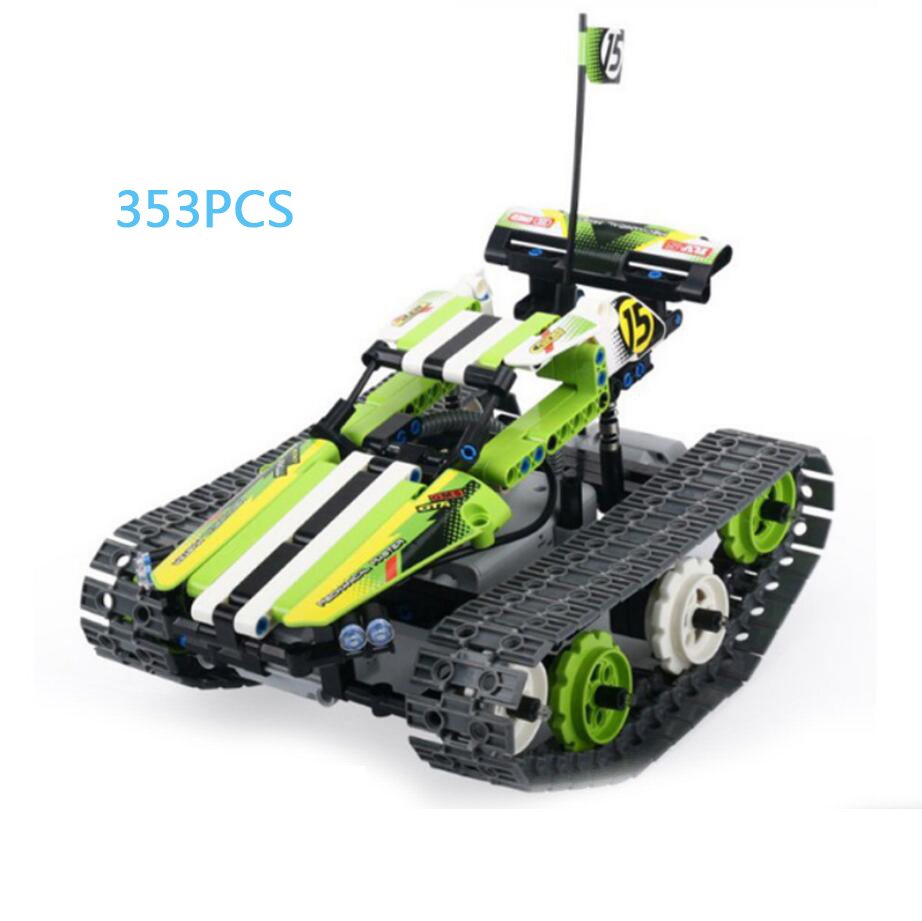 все цены на Technics Tracked off-road vehicle rc cars bricks 2.4Ghz remote radio control toys assemble building block model for boys gifts