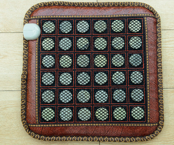 цены 2016 Hot Sale in Thailand Natural Tourmaline Top Quality Massage Jade Cushion Mat for Chair, Free Shipping&Drop Shipping Support