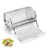 Oven Parts Grilled Cage Beans Peanut Coffee Roaster Stainless Steel BBQ Grill Rotisserie Drum Oven 14
