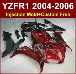 Дорожный/гоночный мотоцикл литьевая форма обтекатели комплект для YAMAHA 2004 2005 2006 YZFR1 YZF1000 YZF R1 04 05 06 красный черный обтекатель набор