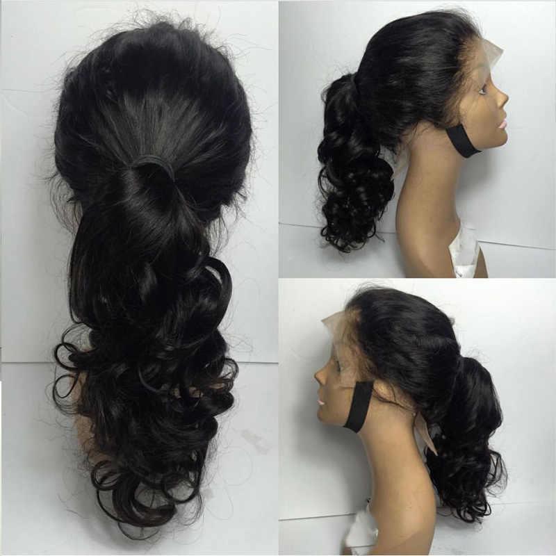 Волнистые человеческие волосы LUFFYHAIR 13x6, бразильские волосы Remy с фронтальным кружевом для глубокого разделения, 150% плотность, предварительно отобранные волосы для женщин
