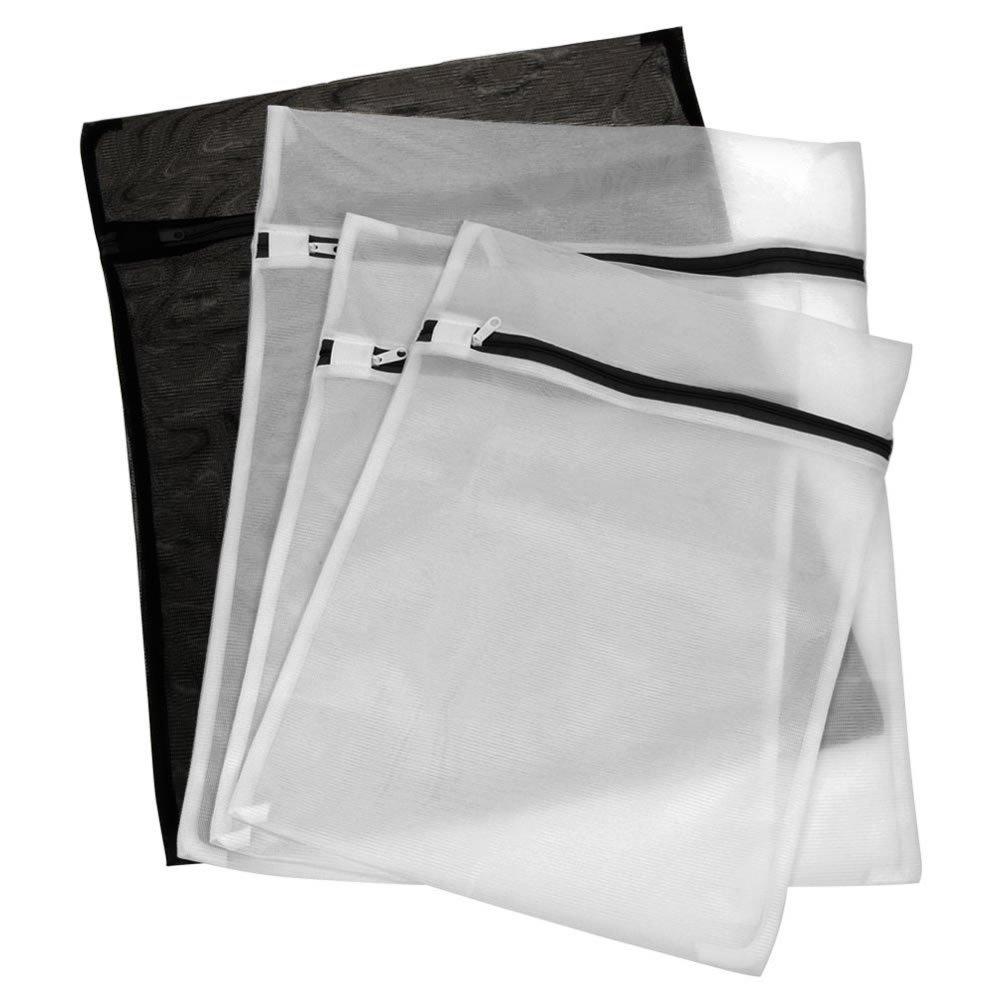 Set Of 4 (2 Large & 2 Medium ) Delicates Laundry Mesh Wash Bags Laundry Bra Lingerie Travel Laundry Bag