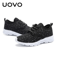 UOVO 2018 New Kids Up-to-date Sneakers Light-weight Casual Shoes Comfortable Slip-on Boys& grils Sneakers for Eur Size 30#-37#(China)
