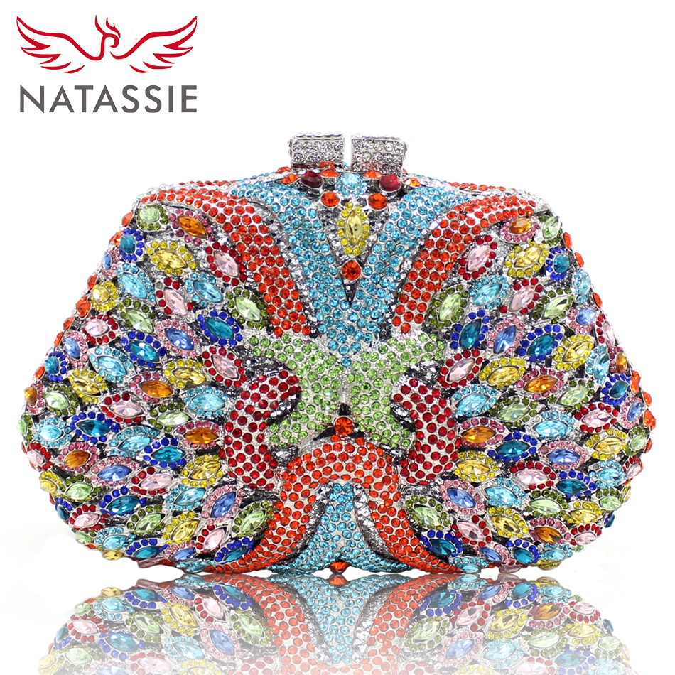 ФОТО NATASSIE Women Evening Clutch Bags Colourful Ladies Clutches Female Party Bag Wedding Clutches