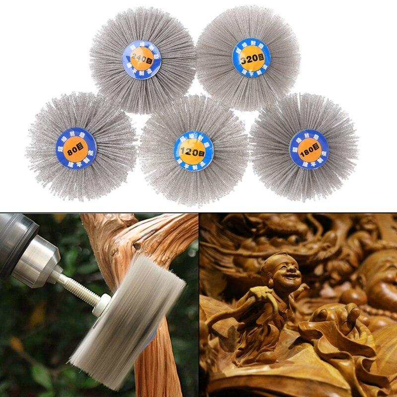 Hot Sale Deburring Abrasive Alumina Wire Brush Flower Head Polish Grind Buff Wheel Shank