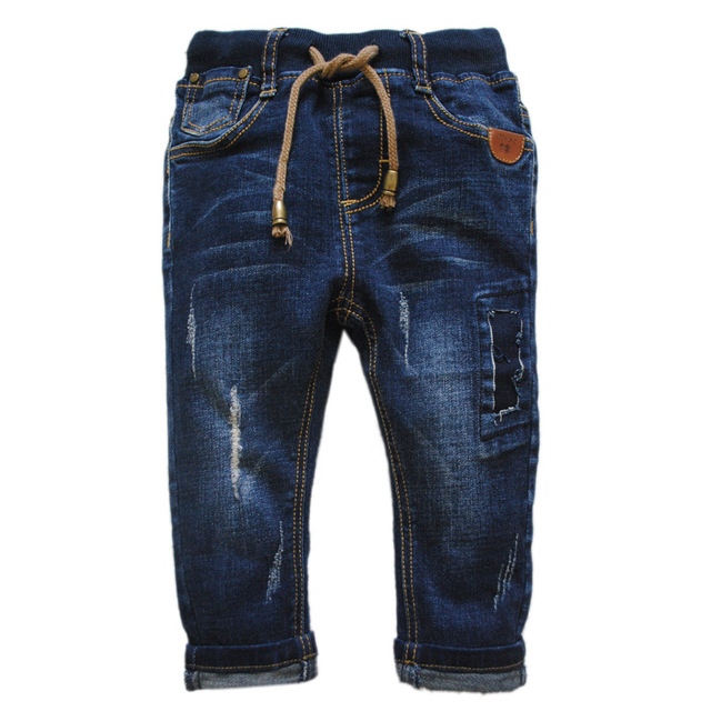 6007 baby jeans pants baby boy jeans denim kids trousers new navy blue spring autumn 0-3 years baby  fashion