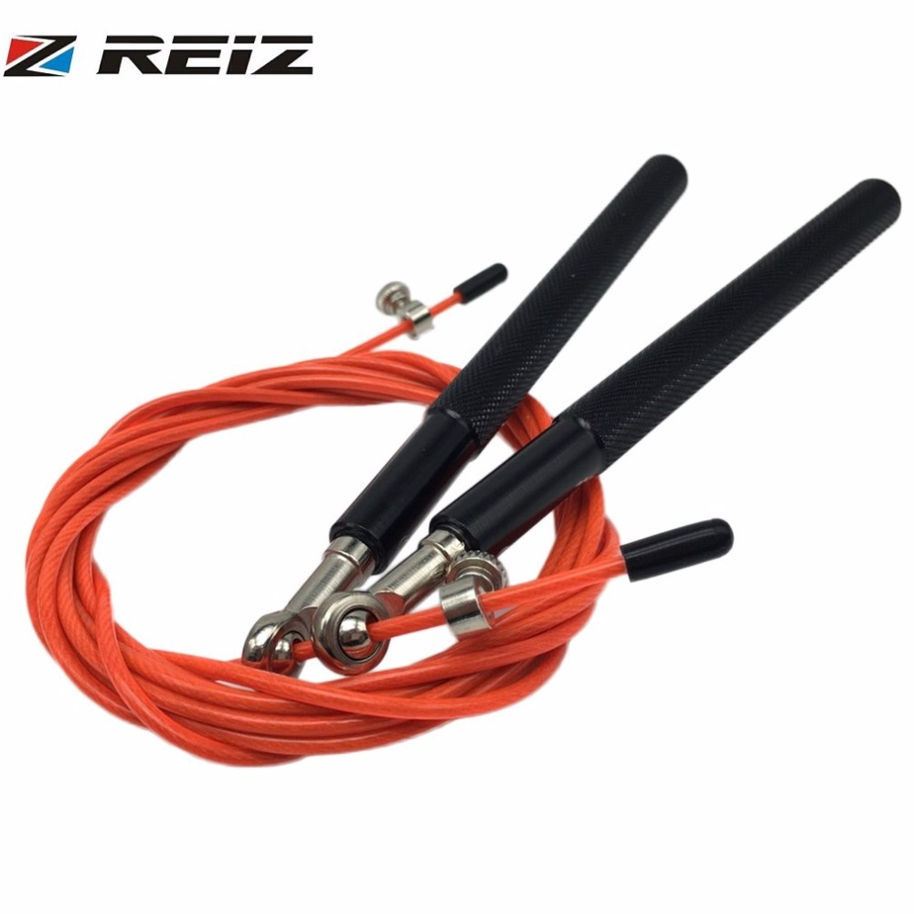 REIZ 3 Meters Metal Ball Bearing Adjustable Exercise Training Speed Jump Rope Sport Skipping Fitness Equipment Home Gym