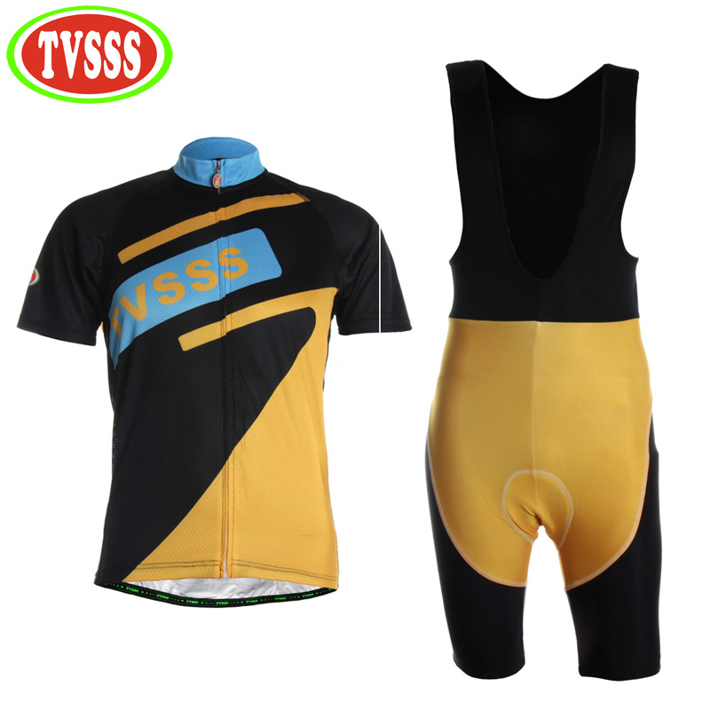 TVSSS 2017 Bicycle Clothing Men Summer Cycling Bib Shorts set Sweat Quick-Drying Short-Sleeved Mountain Bike Clothes Suit