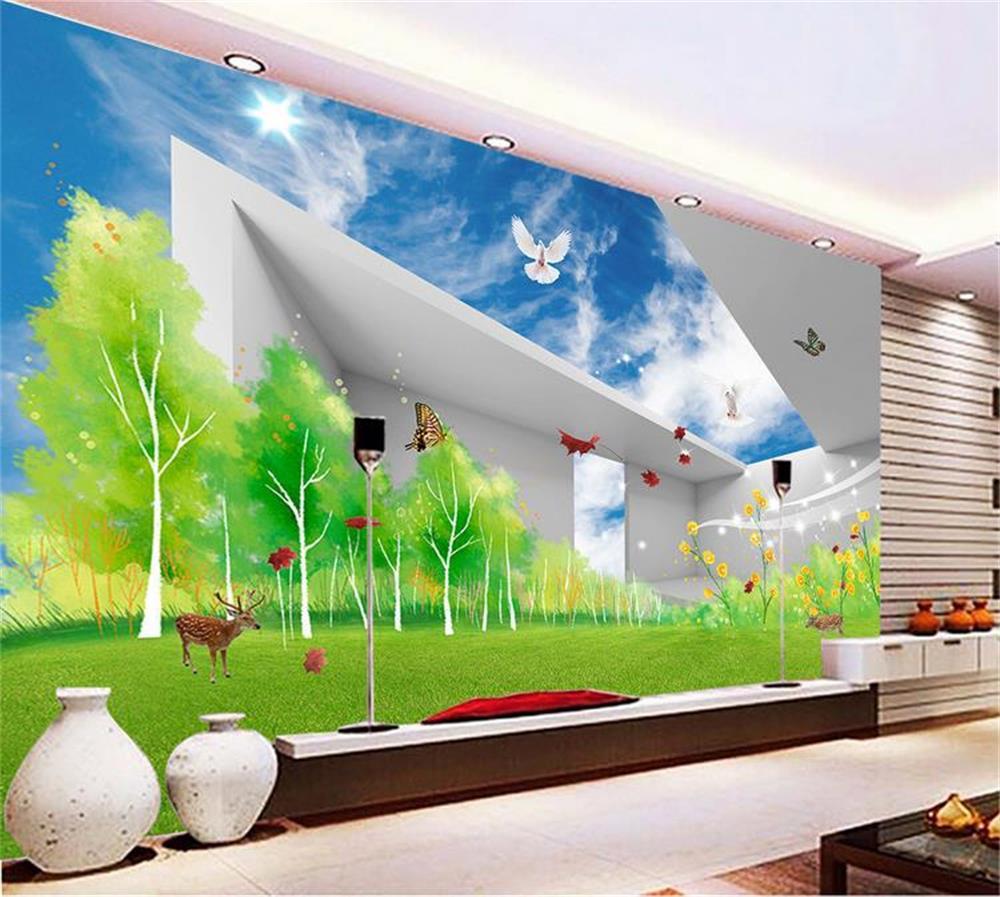 3D wallpaper/custom photo wall paper/Sky 3 d background wall/TV/sofa/Bedroom/KTV/Hotel/living room/Children room