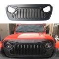 ABS передняя крышка для гоночного гриля украшение с сеткой от насекомых аксессуары для jeep wrangler JL 2018 + автомобильные аксессуары для автомобиля
