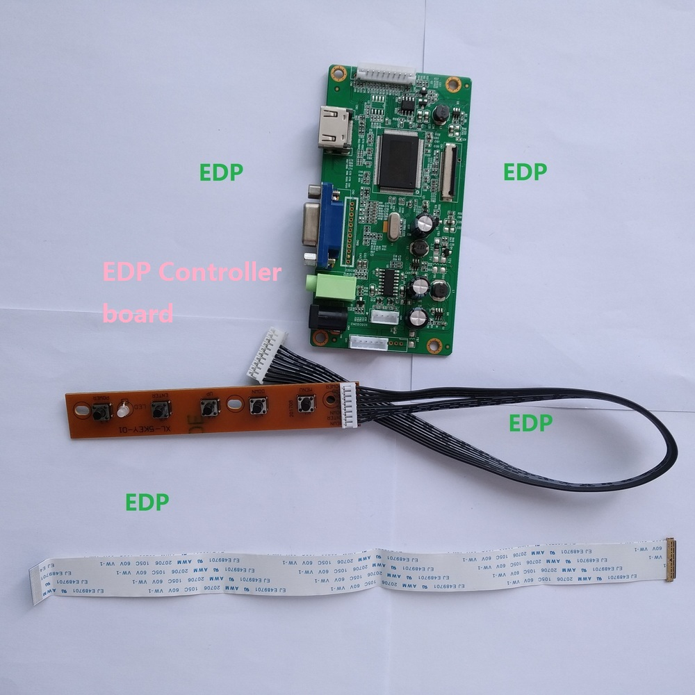 for N156BGE-E21 LCD DRIVER EDP LED KIT VGA 30Pin monitor HDMI DIY SCREEN display Controller board 1366X768 15.6