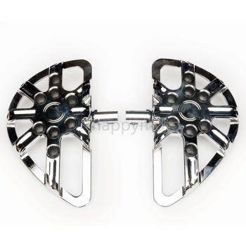 Motorcycle accessories CNC Footpeg Footrest Pedal For Harley Touring Electra Glide Ultra CVO road king chrome