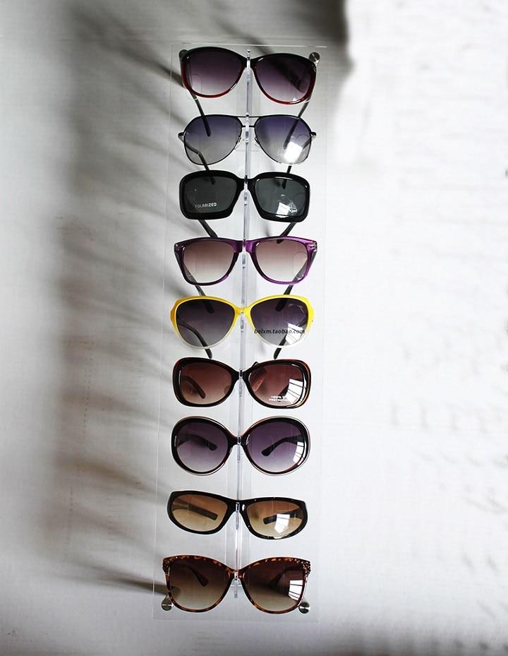 acrylic wall mounted eyewear display sunglasses holder 9 frames retail shelf