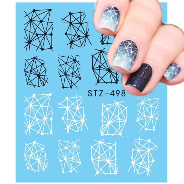 1PCS Summer Harajuku Element Fruit Retro Cake Lace Water Transfer Nail Art Sticker Decal Slider Manicure Tool Tips JISTZ489-500