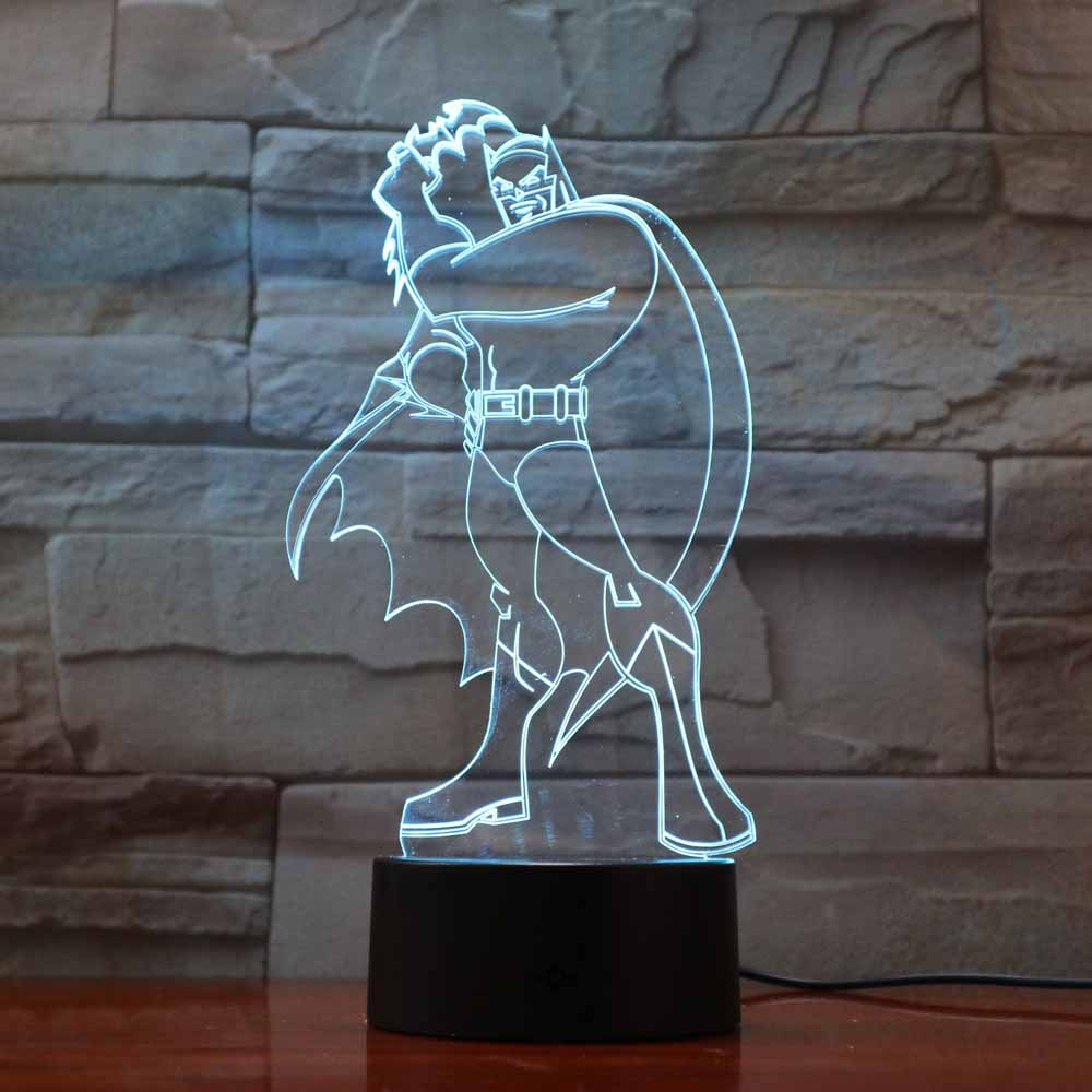 7 Colors Changing Home Atmosphere 3D Batman Table Lamp Led Super Hero Night Light Creative Lighting Luminous Light Fixture Gifts7 Colors Changing Home Atmosphere 3D Batman Table Lamp Led Super Hero Night Light Creative Lighting Luminous Light Fixture Gifts