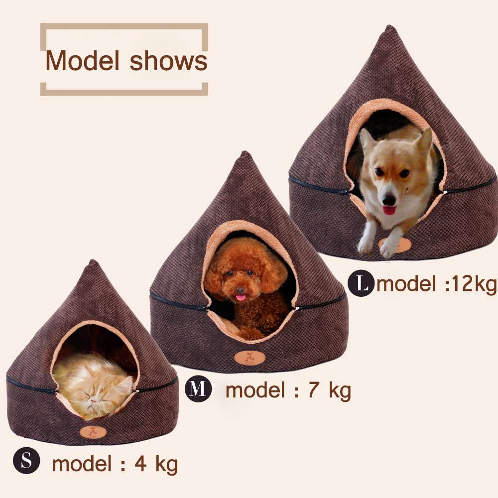 HOOPET Pet Dog Cat Tent House All Seasons Dirt-resistant Soft Yurt Bed with Double Sided Washable Cushion  sc 1 st  Gizfrog.com & Pet Dog Cat Tent House All Seasons Dirt-resistant Soft Yurt Bed ...