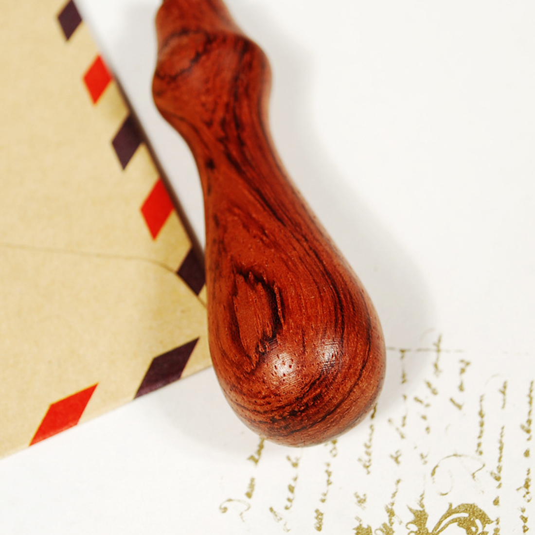 New Good Quality Vintage Art Deco Sealing Wax Seal Rosewood Stamp Handle Wedding Post Gift Lowest Price