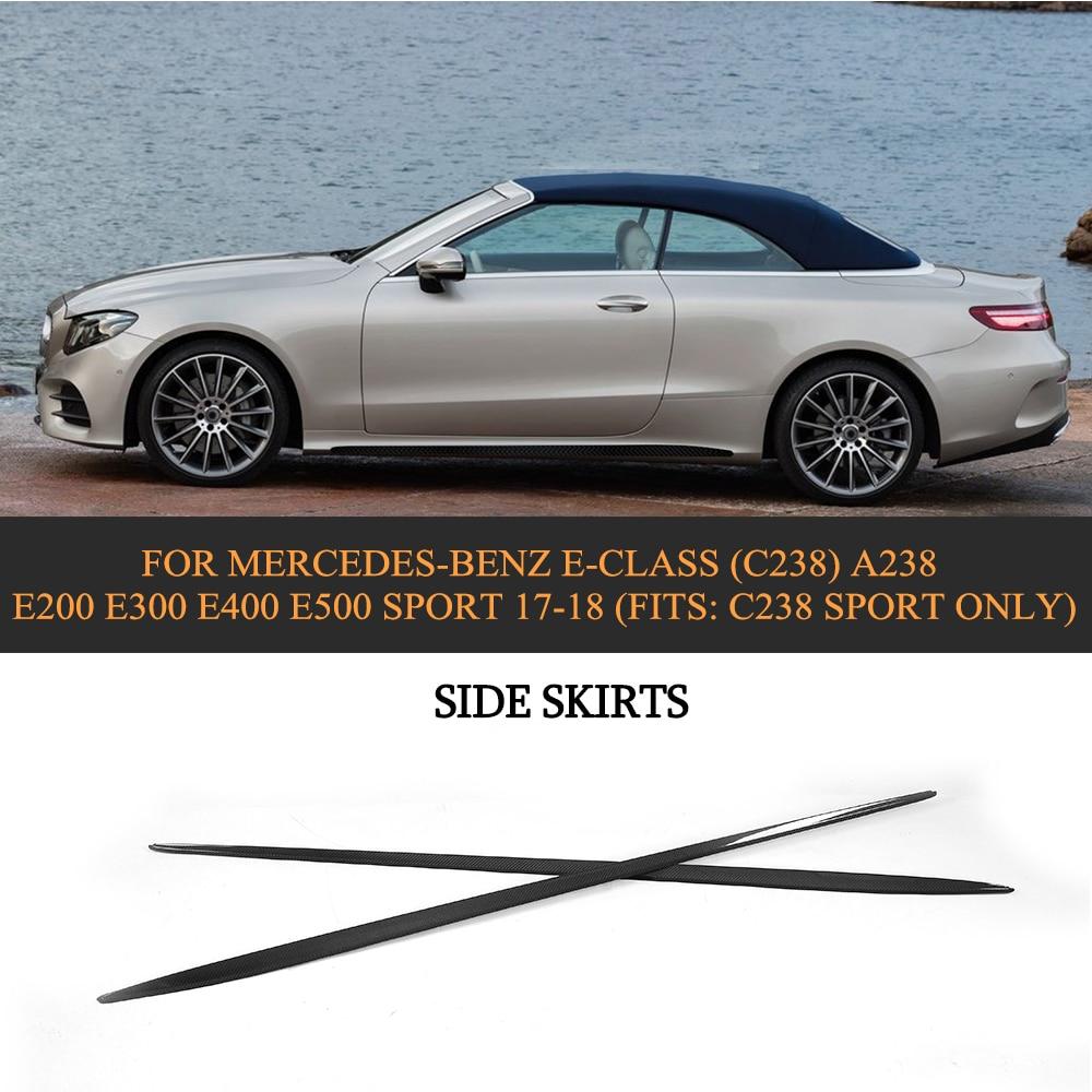 2012 Mercedes Benz M Class Body Structure: E Class Carbon Fiber Car Side Skirt Body Lip For Mercedes