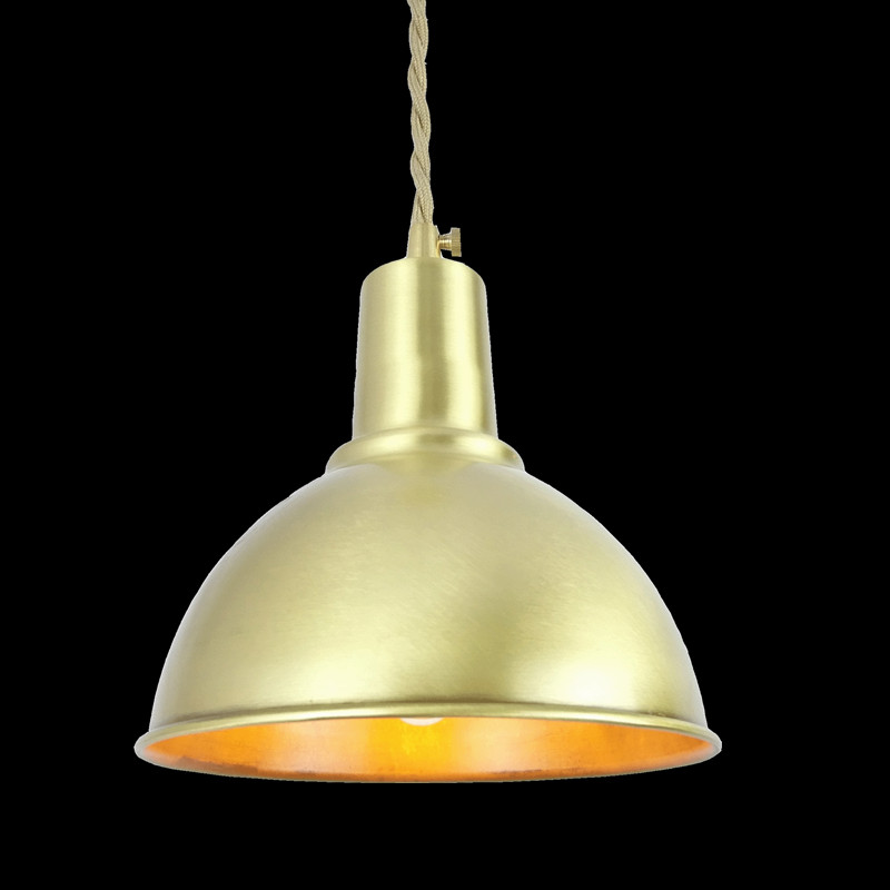 Half round brass ball copper lampshade fabric wire pendant lamp fixture brass lighting LED modern style Restaurant Bedroom light d180mm brass bell copper cone lampshade fabric wire pendant lamp fixture brass lighting for cafe restaurant ceiling room led