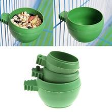 Мини-еда для попугая миска для воды Фидер пластиковая клетка для птиц голубей Песочная чашка для кормления с ручкой