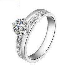 925 Engagement Ring White Gold Women Engegemnt Wedding Ring Vintage Swiss Diamond Ring Wedding Jewellery With Natural Stones