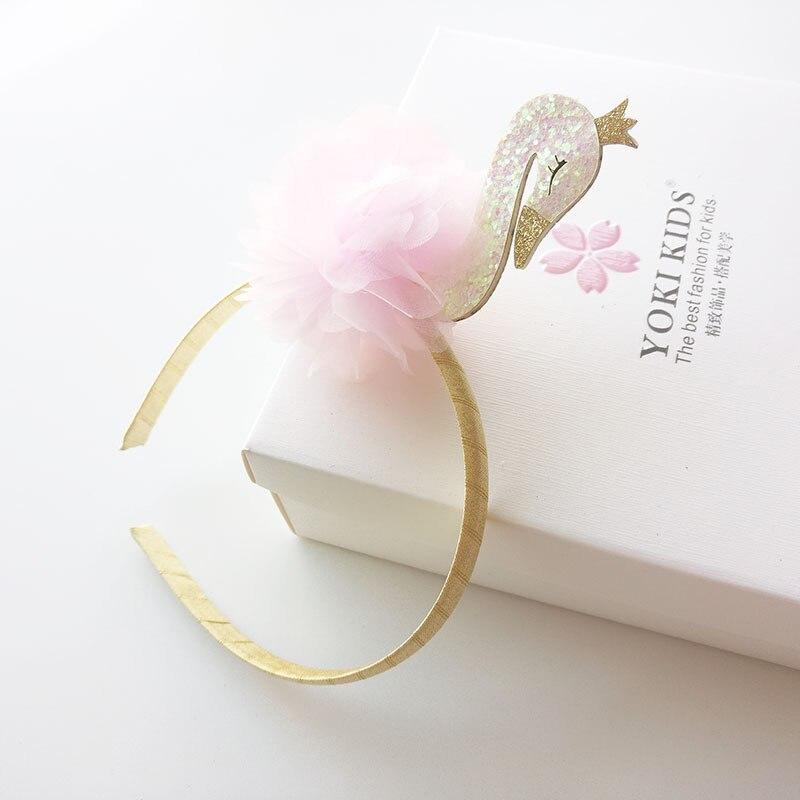 1 PCS New Cute Cartoon Swan Kids Hair Hoop Boutique Baby Hairbands Princess   Headwear   Girls Hair Accessories Children Headbands