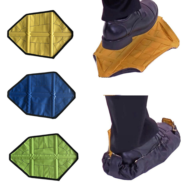 2pcs/pair 2018 New Step in Sock Reusable Shoe Cover One Step Hand Free Sock Shoe Covers Durable Portable Automatic Shoe Covers