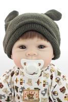 Noworodek Zagraj Zabawki 22 cali Realistyczne Reborn Chłopak Lalki Na Przyjęcie Importowane żel krzemionkowy Sztuczne Dziecko Zabawki Brinquedos