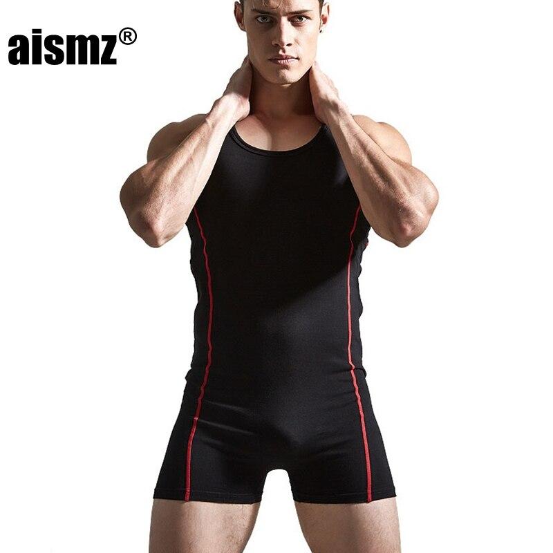 Aismz Hochwertigen Männlichen Sexy Unterwäsche Shapers Männer Bodys Mann Atmungsaktive Baumwolle Bodybuilding Einteiligen Kleidungsstück